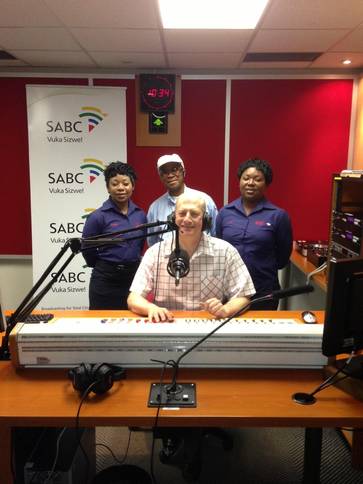 SABC supervisor with staff